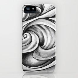 Swirl (Gray) iPhone Case