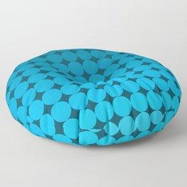 Blue Circles Floor Pillow