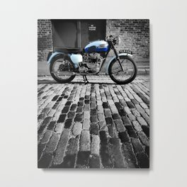 Bonneville On Cobbles Metal Print