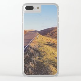 Mountain Road, TT Isle of Man. Clear iPhone Case
