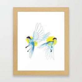 Cats flying Framed Art Print