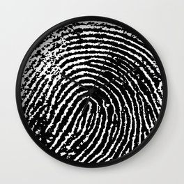 Fingerprint Wall Clock