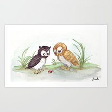 Curious Owls Art Print