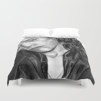 harry styles Duvet Covers featuring HARRY STYLES by Labani