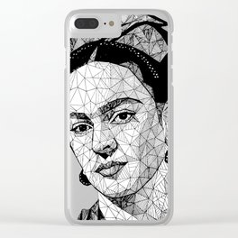 frida Lines Clear iPhone Case