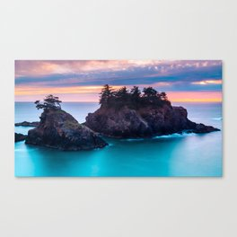 Sunset at Thunder Rock Cove, Oregon Canvas Print