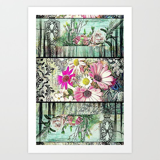 Tower of Flowers Art Print