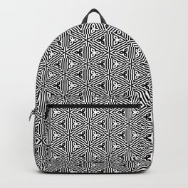 Ancient Triangles Black and White Backpack