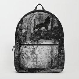Howling Wolf Crouching Rabbit Backpack