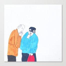 short break in shopping Canvas Print