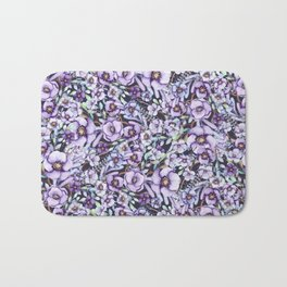FLOWERS WATERCOLOR 24 Bath Mat