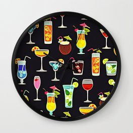 It's 5 O'Clock Somewhere Cocktails Wall Clock