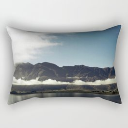 Cloudy dark mountains Rectangular Pillow