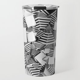 Abstract Pyramid 3D Illustration Travel Mug
