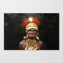 Papua New Guinea Chief's Headdress Canvas Print