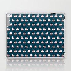 Sailing ships on navy pattern Laptop & iPad Skin