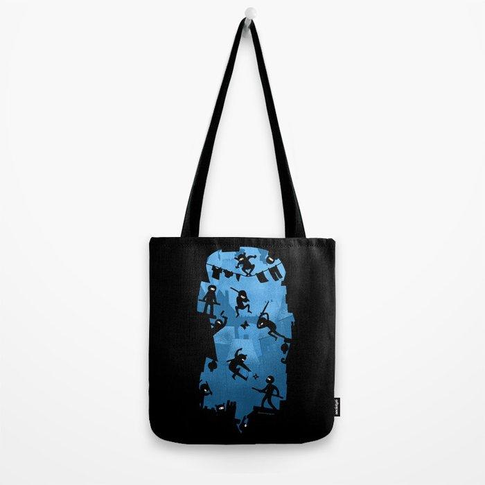 Ninja Kick Ass Clash Tote Bag
