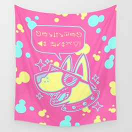 Floss Dog Wall Tapestry