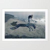 sea horse Art Prints featuring Sea horse by Kestere
