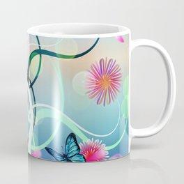 Dahlias and Vines Coffee Mug
