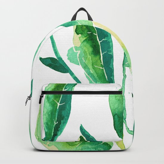 new water color leaves Backpack