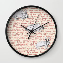 Hares and More Hares Wall Clock