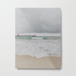 Storm Clouds Over the Sea Metal Print