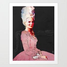 Kirsten Dunst as Marie Antoinette Art Print