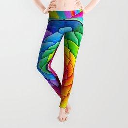 Healing Lotus Rainbow Yin Yang Mandala Leggings