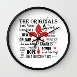 The Originals inspired art print (White) Wall Clock