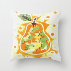 Abstract Pear Throw Pillow