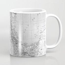 Vintage Mexico Railroad Map (1881) BW Coffee Mug