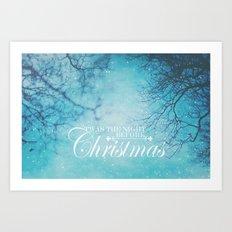 Twas The Night Before Christmas Art Print