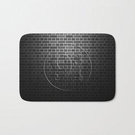 Platform 9 3/4 Black Brick Wall Bath Mat
