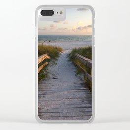 Beach Boardwalk Clear iPhone Case