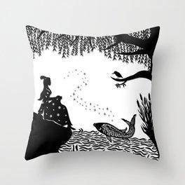 Ye Xian - The Golden Fish Throw Pillow