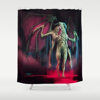spawn Shower Curtains featuring cursed by Yoncho Yonchev