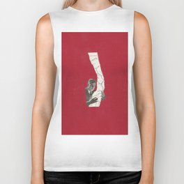 Torn Around — Red Map Biker Tank