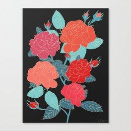 Rose Garden - Dark Canvas Print