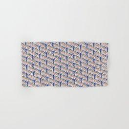 Bisexual Trendy Rainbow Text Pattern (Blue) Hand & Bath Towel