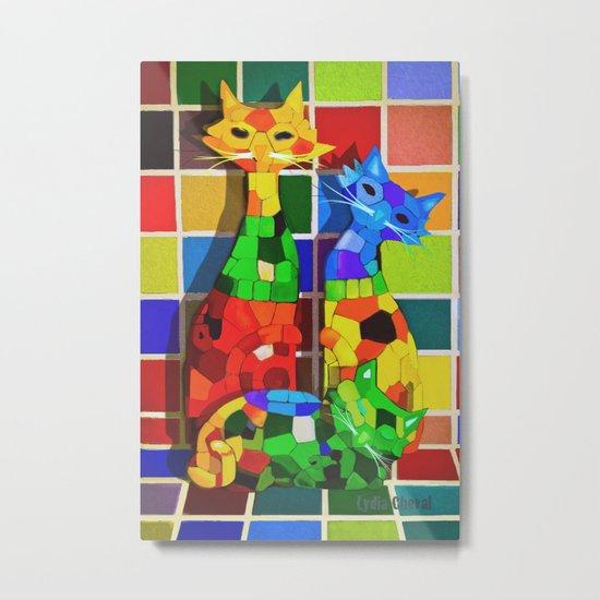 Cat'meleon Metal Print