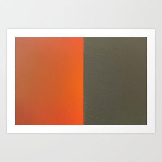 On an Edge 3/4 Art Print