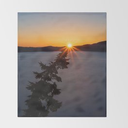 Sunset Tree Top Throw Blanket