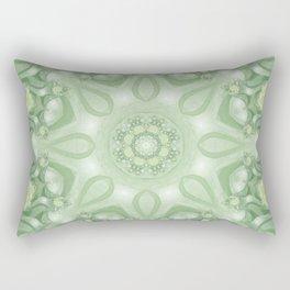 Spring Mandala 02 in Green, Yellow and White Rectangular Pillow