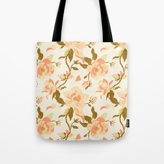 Magnolia Pattern Tote Bag