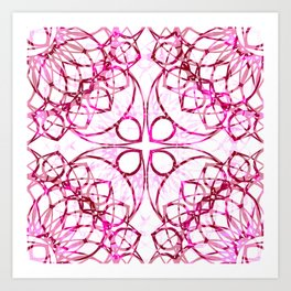 Pink Boho Chic Pattern Art Print