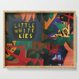 Little White Lies Serving Tray