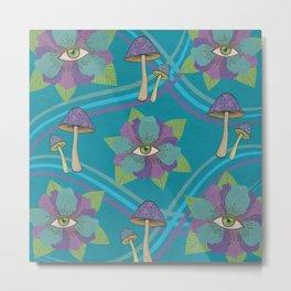 Psychedelic Pattern Metal Print