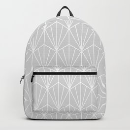 Art Deco Vector in Grey and White Backpack