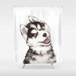 Baby Husky Shower Curtain